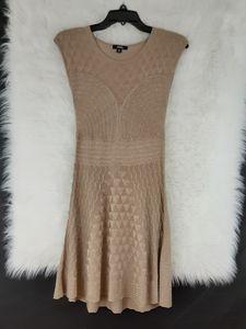 XOXO Sleeveless Tan & Gold Dress Size M